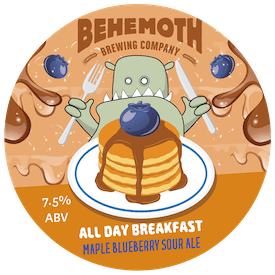All Day Breakfast - Blueberry Maple Sour Ale tap badge