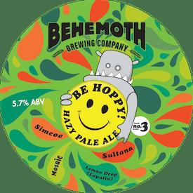 Be Hoppy! No.3 Hazy Pale Ale tap badge