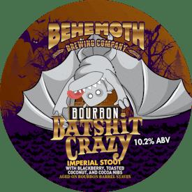 Bourbon Batshit Crazy Imperial Stout tap badge