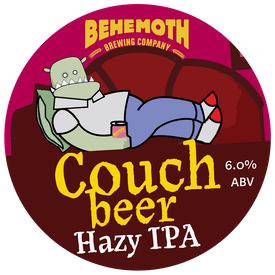 Couch Beer tap badge
