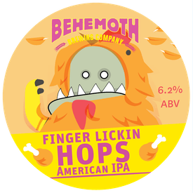 Finger Lickin' Hops tap badge