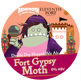 Fort Gypsy Moth tap badge