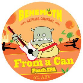From a Can - Peach IPA tap badge