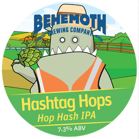 Hashtag Hops tap badge