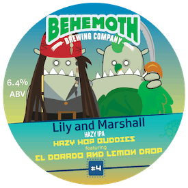 Lily And Marshall - Hazy Hop Buddies #4 tap badge