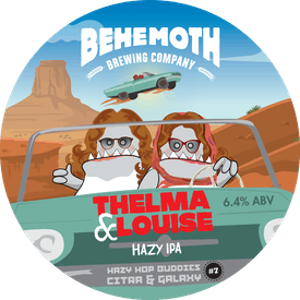 Thelma And Louise Hazy Hop Buddies #7 tap badge
