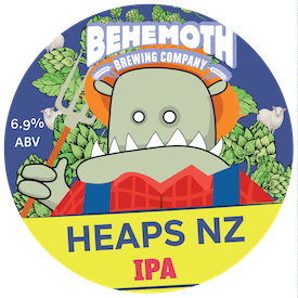 Heaps NZ IPA tap badge