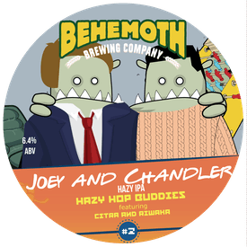 Joey And Chandler Hazy Hop Buddies #2 tap badge