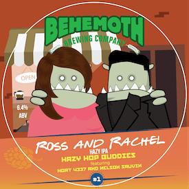 Ross And Rachael - Hazy Hop Buddies #1 tap badge