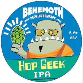Hop Geek IPA tap badge