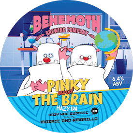 Hop Buddies - Pinky and the Brain #9 tap badge