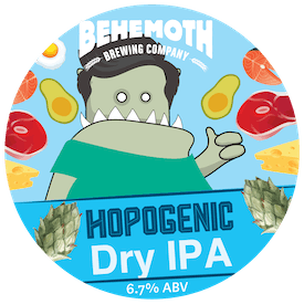 Hopogenic Dry IPA tap badge