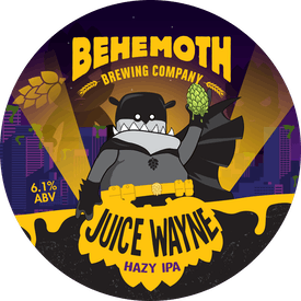 Juice Wayne Hazy IPA tap badge
