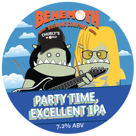 Party Time IPA tap badge