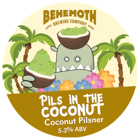 Pils In The Coconut tap badge