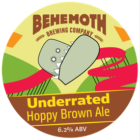 Underrated Hoppy Brown Ale tap badge