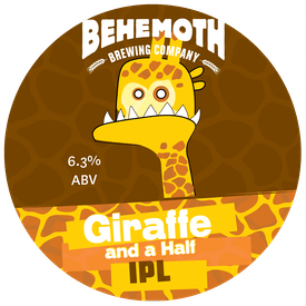 Giraffe and a half tap badge
