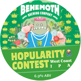 Hopularity Contest West Coast IPA tap badge
