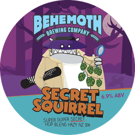 Secret Squirrel - Hazy NZ IPA tap badge