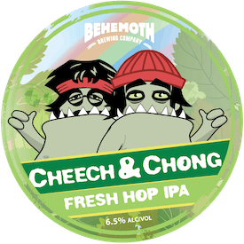 Cheech & Chong Fresh Hop IPA tap badge