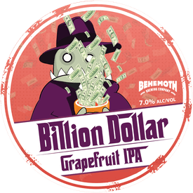Billion Dollar Grapefruit tap badge