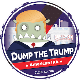 Dump the Trump tap badge