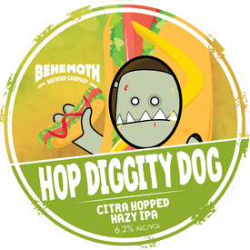 Hop Diggity Dog tap badge