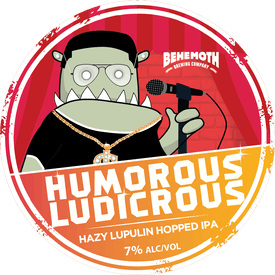 Humorous Ludicrous tap badge