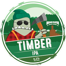 Timber IPA tap badge