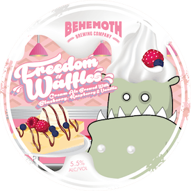Freedom Waffles tap badge