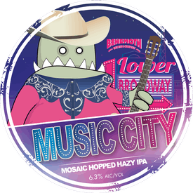 Music City tap badge