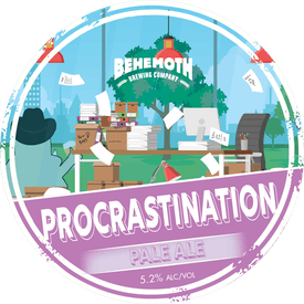Procrastination Pale Ale tap badge
