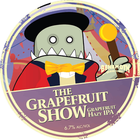 The Grapefruit Show tap badge