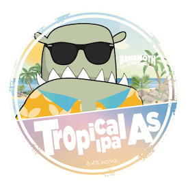 Tropical As tap badge