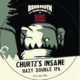 Churtz Insane Hazy Double IPA tap badge