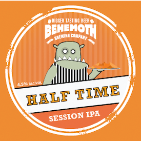 Half Time Session IPA tap badge