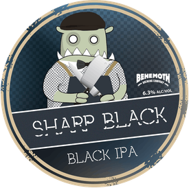 Sharp Black IPA tap badge