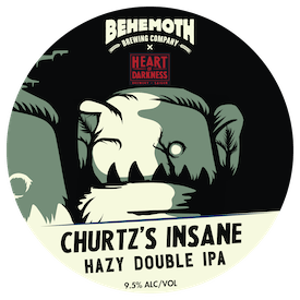 Churtz Insane Hazy Double IPA tap badge