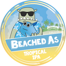 Beached As - Tropical IPA tap badge