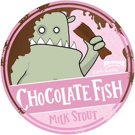 Chocolate Fish tap badge