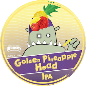 Golden Pineapple Head tap badge
