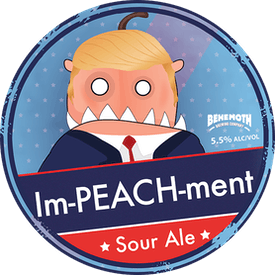 ImPEACHment Sour Ale tap badge