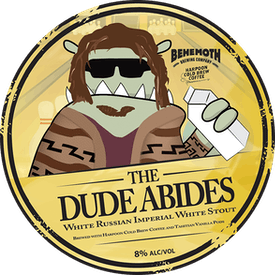 The Dude Abides tap badge
