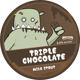 Triple Chocolate Milk Stout tap badge