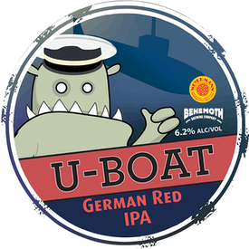 U-Boat German Red IPA tap badge