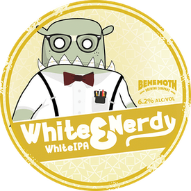 White & Nerdy  tap badge