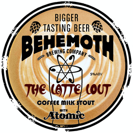 The Latte Lout tap badge