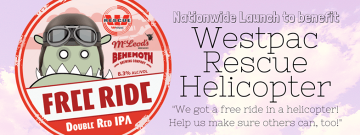 Westpac Rescue Fundraising Pub crawl - Free Ride Double Red IPA